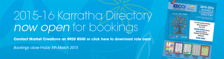Book in the 2015 Karratha Directory